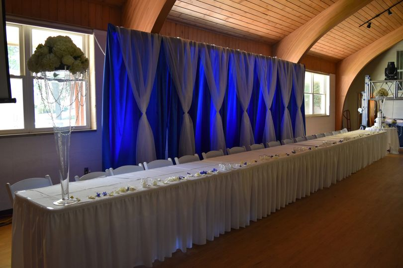 Head table - Oakwood Resort