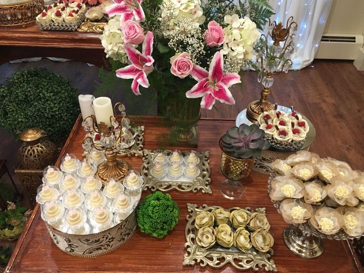 Lavish dessert displays