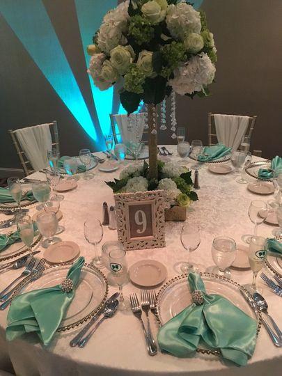 Turquoise arrangement