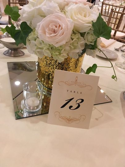 Customize your special day with elegant center pieces
