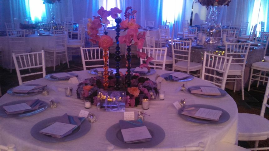 Table setup with place cards