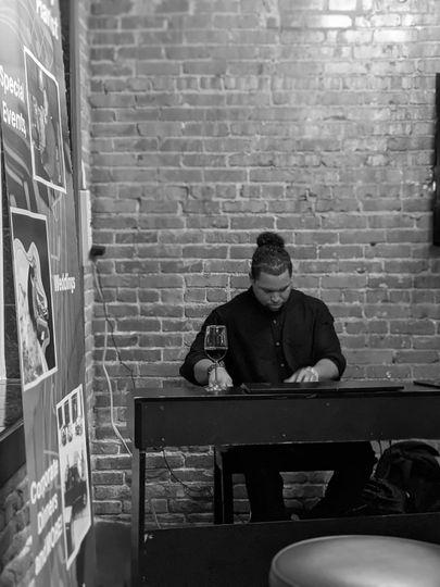 Playing Piano in OKC bricktown