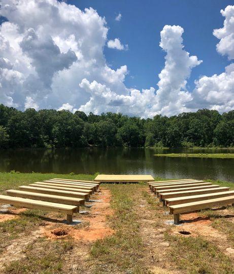 New lakeside pews