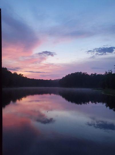 Lake view sunset #nofilter