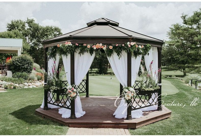 Gazebo wedding setup