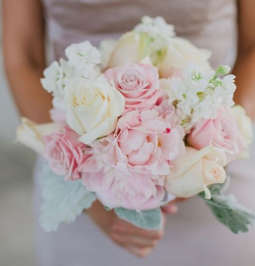 Perfect pink and white bouquet