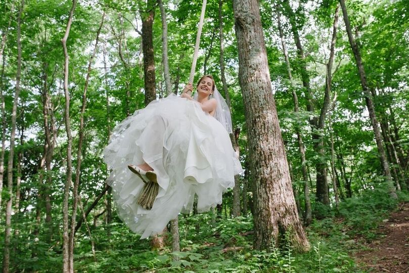 Bride swinging