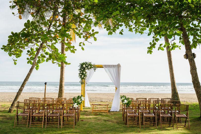 Intimate Ceremony setup