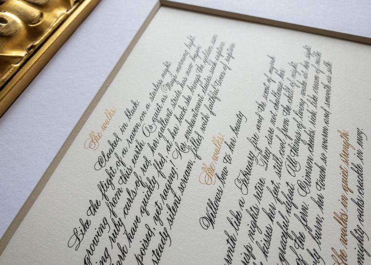 Framed Calligraphy Poem