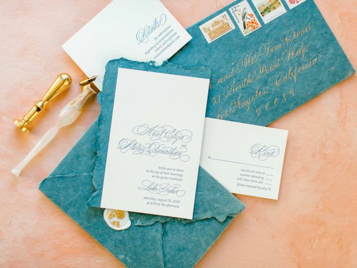 Tmx Wedding Invitation Calligraphy Kestrel Montes 15 Of 19 51 1018657 1567105116 Santa Rosa, CA wedding invitation