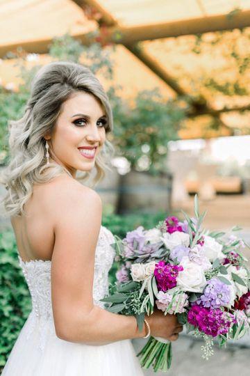 The bride ready
