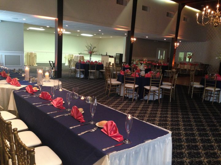 Long tables dressed beautifully