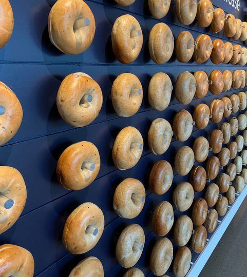 Navy bagel wall