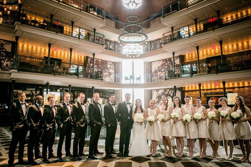 lobby bridal party