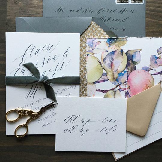 letterpress wedding invitations pantone 2016 darli