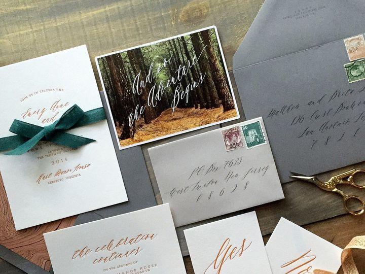 Tmx 1453775509072 Letterpress Wedding Invitations Rustic Copper Adve Princeton wedding invitation