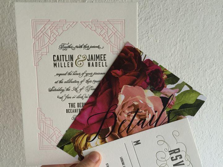 Tmx 1453775519923 Darling Pearl Letterpress Wedding Invitation Art D Princeton wedding invitation