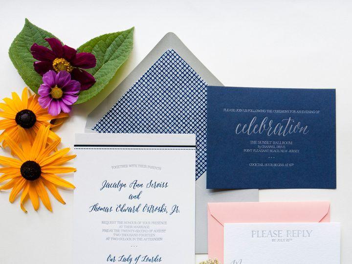 Tmx 1453775537433 Darling Pearl Letterpress Wedding Invitation Beach Princeton wedding invitation