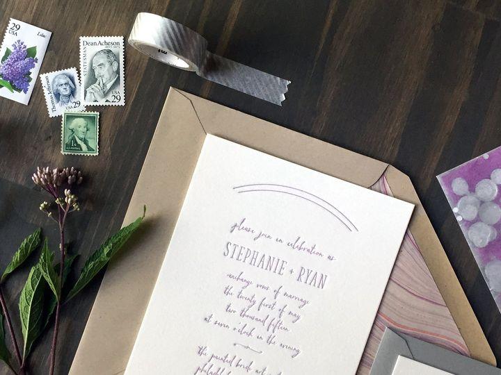 Tmx 1453775564477 Darling Pearl Letterpress Wedding Invitation Big F Princeton wedding invitation