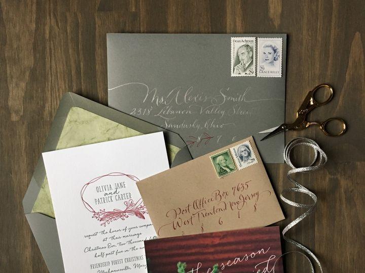 Tmx 1453775632469 Darling Pearl Letterpress Wedding Invitation Chris Princeton wedding invitation