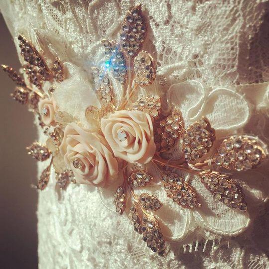 Cream and sparkly designs
