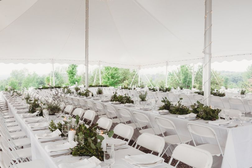 Fresh and bright event tent