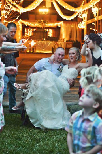 Candlelight glow barn wedding