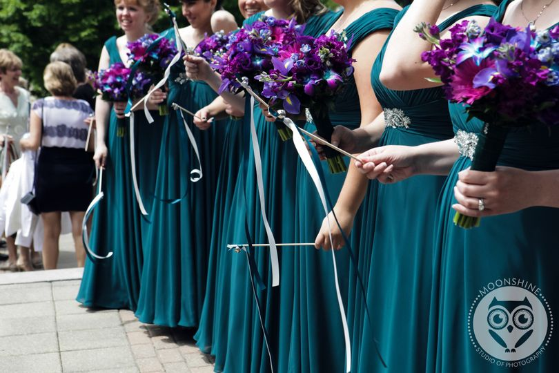 Blue-green wedding