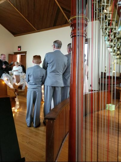 Harp at wedding