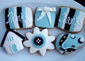 Tmx 1251829252611 ThanksBlueWhiteBlackCookieSet286x206 Cedar Park wedding favor
