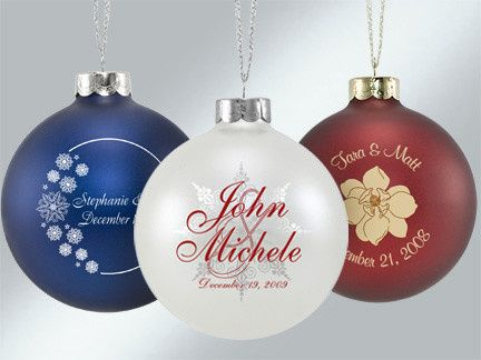 Doesn't matter the time of year but especially winter weddings this ornament is sure to please your...