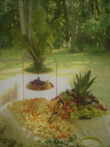 Back-yard fruit and cheese