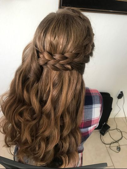 Braid and twist with curls