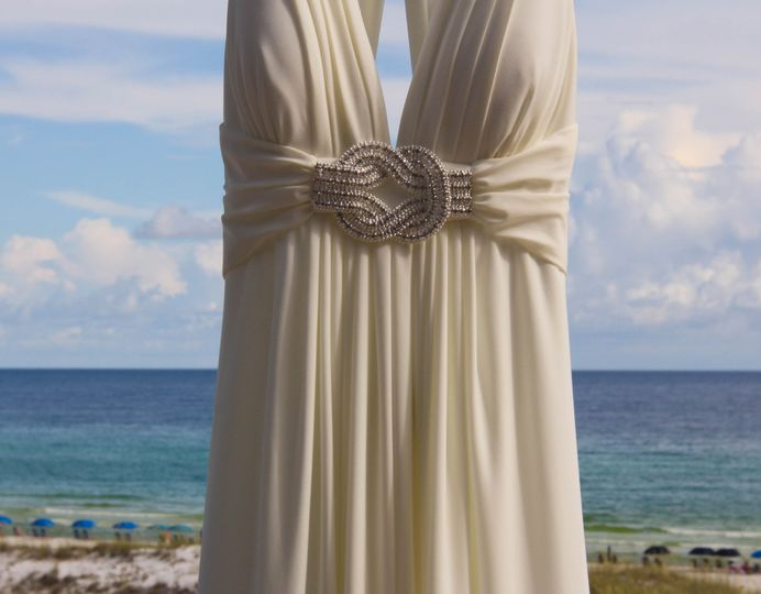 dress crop on beach