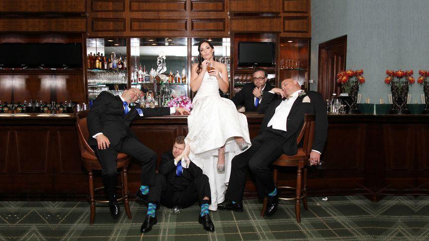 Bride with her groomsmen