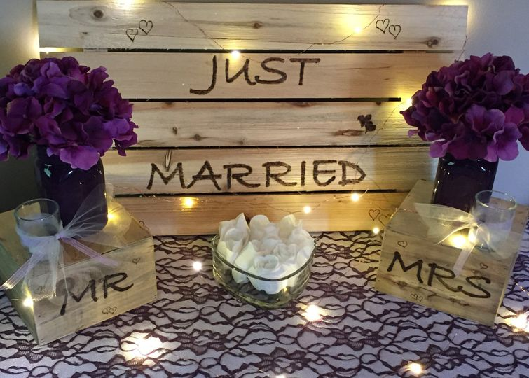 Just Married caption