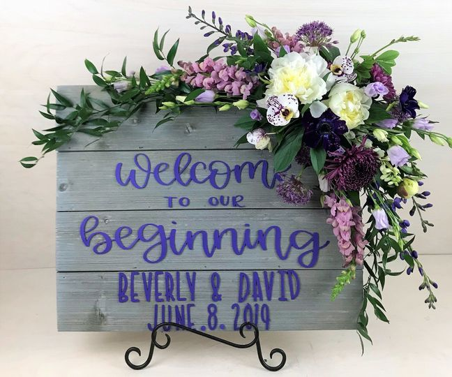 Ceremony Sign Accent
