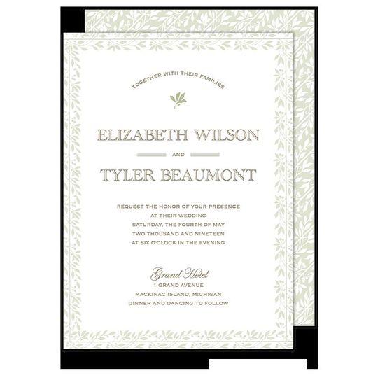 Botanical Border Wedding Invitation