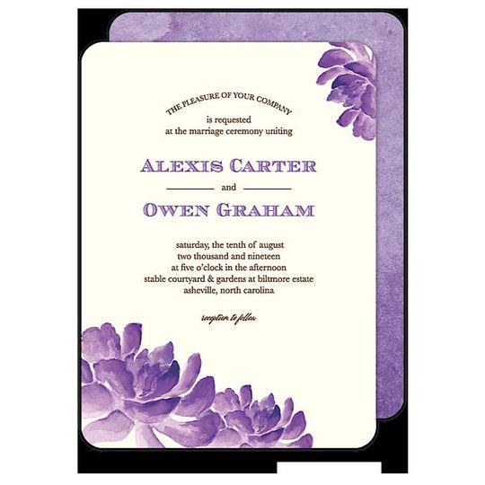 Cactus Orchids Wedding Invitation