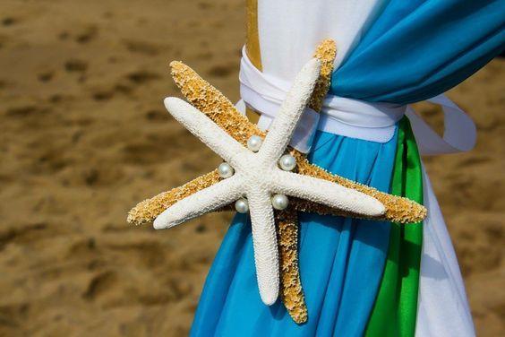Starfish detail on the arbor