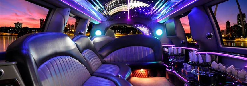 Interior of the limo