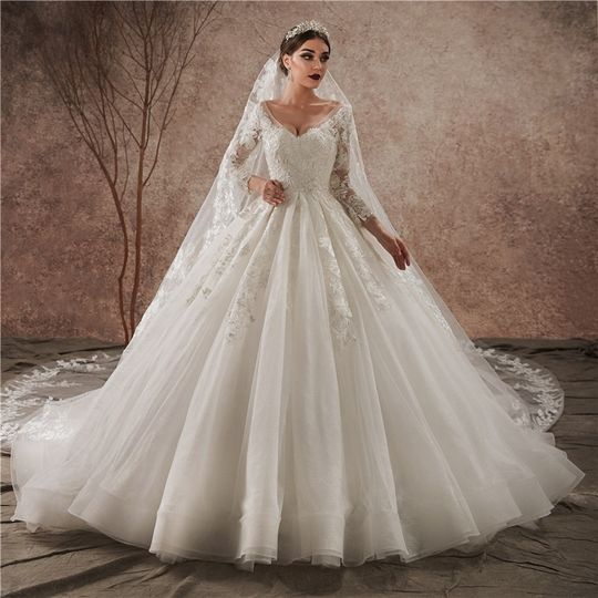 High quality lace gown