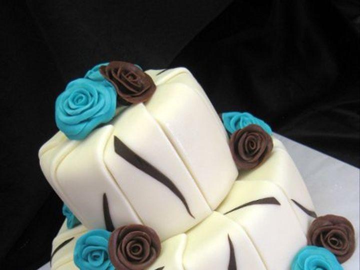 Tmx 1294084600947 Tealbrownrose San Marcos, CA wedding cake