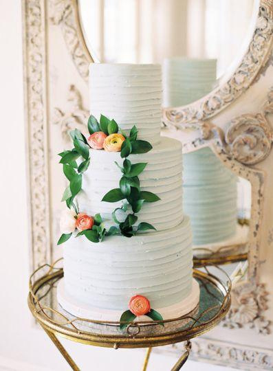 French Blue Wedding Cake