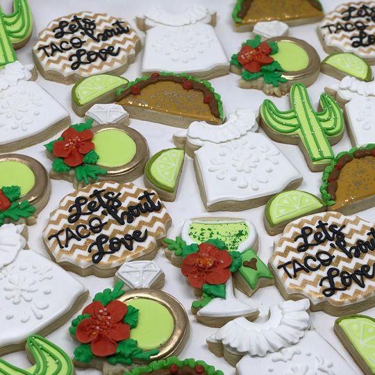 Custom wedding shower cookies