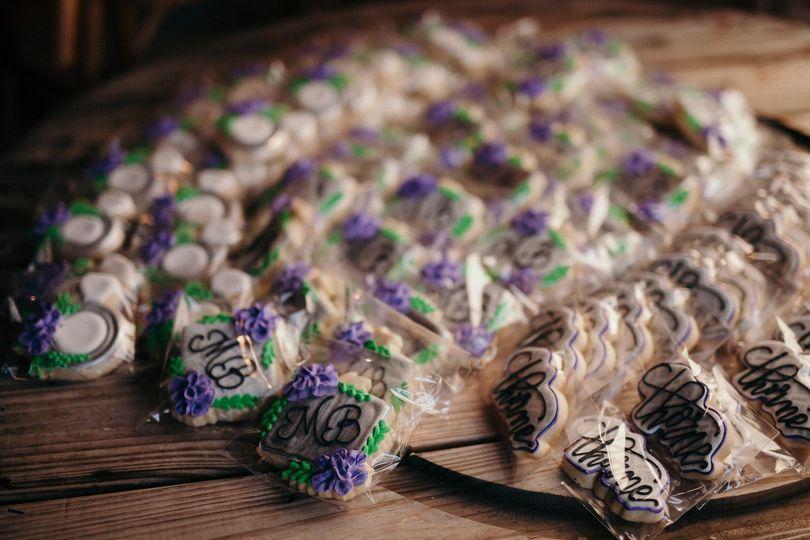 Custom wedding favor cookies