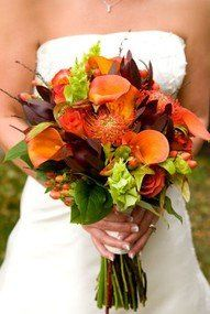 Tmx 1356075859273 OrangeCallaHypericumTorchiereBoquet Saint Louis, MO wedding florist