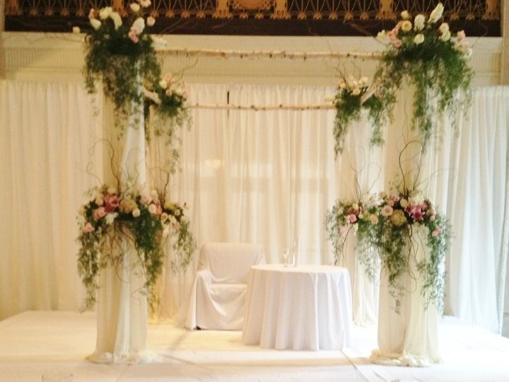 Tmx 1373772808268 Huppa   White Birch With Draping And Suspended Flowers Saint Louis, MO wedding florist