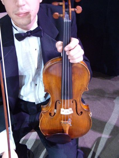 Jacksonville Strings violinist at a recent wedding ceremony