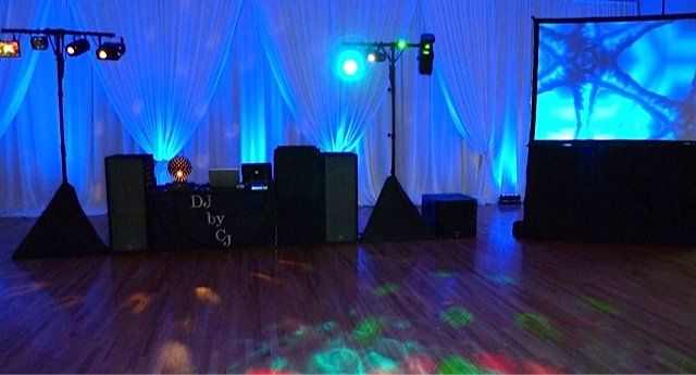 "Your complete setup comes with dance lighting and 6' x 8"" video screen"